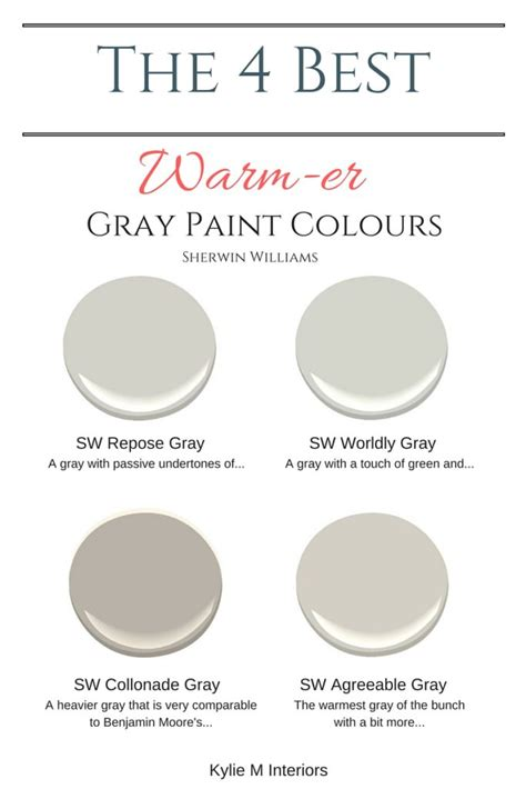 warm gray paint colours sherwin williams