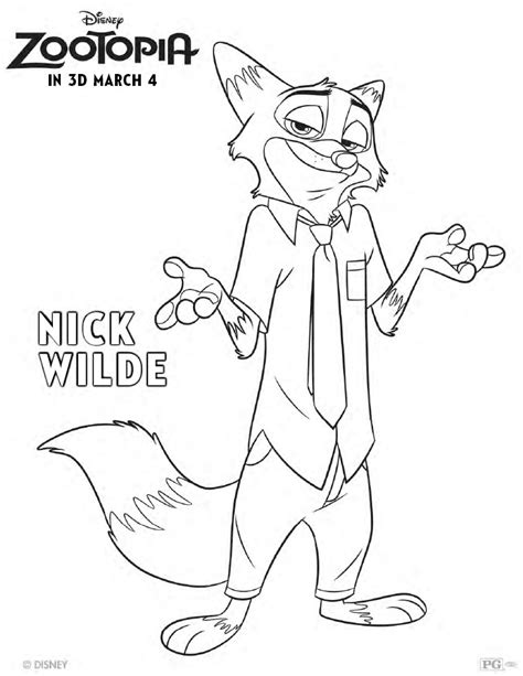 coloring pages for zootopia zootopia coloring pages and activity sheets printables