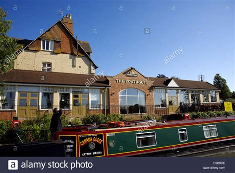 The Boat House Pub Public House Braunston Turn Junction Between Grand Stock Photo