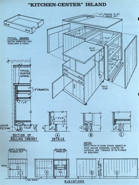 kitchen center island plans how to a kitchen center island 1961 click americana