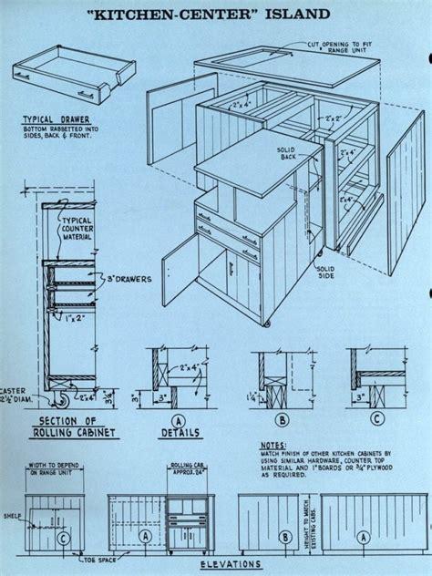 kitchen center island plans how to a kitchen center island 1961 click americana