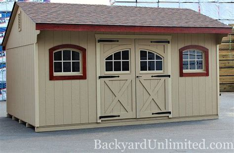 quaker shed  carriage house door arched wood
