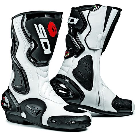 white motorcycle boots sidi cobra motorbike motorcycle race sports bike