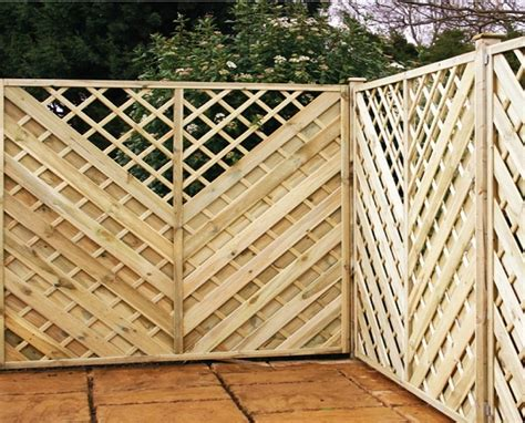 Wooden Trellis Panels Arnold Pressure Treated Chevron Fence Panel With Integral