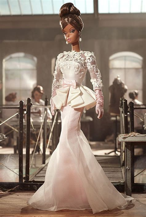 Exclusive Dress Chiffon Korea Hitam Ungu Import Limited Edition 2012 collector bfmc silkstone atelier evening gown doll nrfb w3426