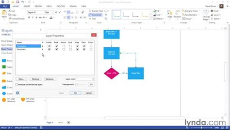 visio layers tutorial creating removing and assigning to layers
