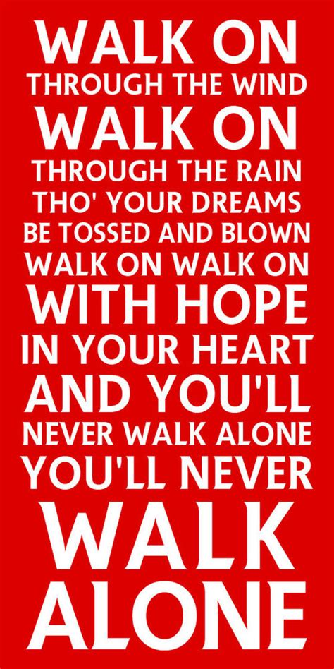 testo you ll never walk alone you ll never walk alone metal sign liverpool football