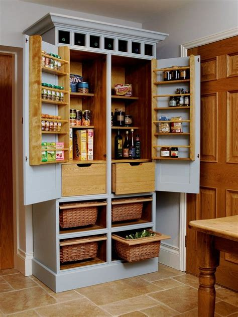 Kitchen Pantry Cabinet Freestanding Best 25 Free Standing Pantry Ideas On Pinterest