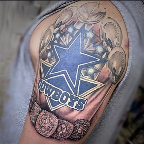 nfl tattoos 50 dallas cowboys tattoos for manly nfl ink ideas