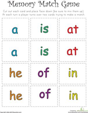 dolch sight word printable memory games sight word memory match ii sight words memories and words