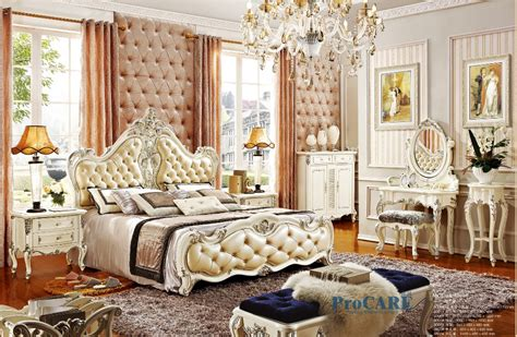 antique royal european style solid wood 5pcs bedroom luxury european royal style white solid wood carved antique bedroom furniture set with 1 8m