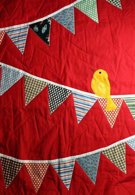 Handmade Applique Quilts - handmade applique baby quilt bird quilt so and birds