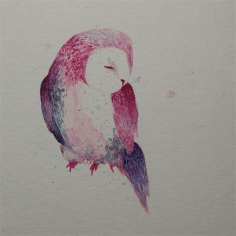 watercolor tattoos tumblr owl watercolor