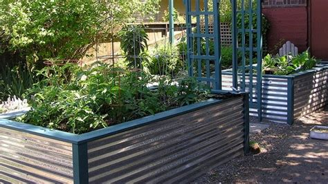 Corrugated Metal Planters by Corrugated Metal Planter Food