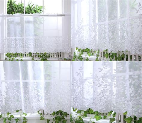 voile kitchen curtains kitchen voile cafe net curtain panel 25 new designs 12