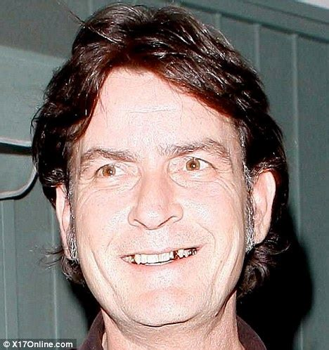 charlie sheen is half the man he used to be with grey