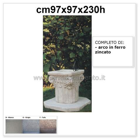 pozzo giardino pozzo da giardino veneziano cm97x97x230h pozzo cm75x75x85h