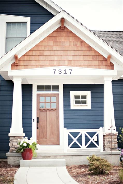 blue exterior house paint with orange stripe and black 10 bold colors to paint your home s exterior benjamin