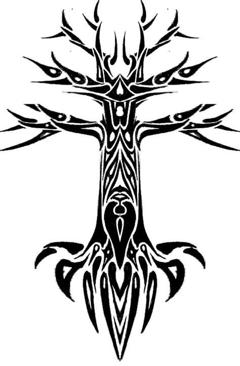 tattoo tribal tree tribal tree design by fraxuur on deviantart