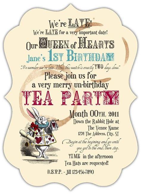 mad hatter tea invitation template free beautiful mad hatter tea invitations for additional