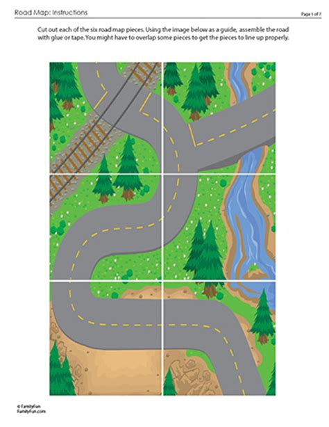printable play road map best photos of printable road for cars toy car road map