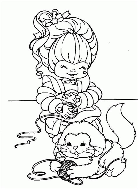 Rainbow Brite Cartoons Coloring Home Rainbow Brite Coloring Pages