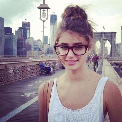 cute glasses bun hairstyles