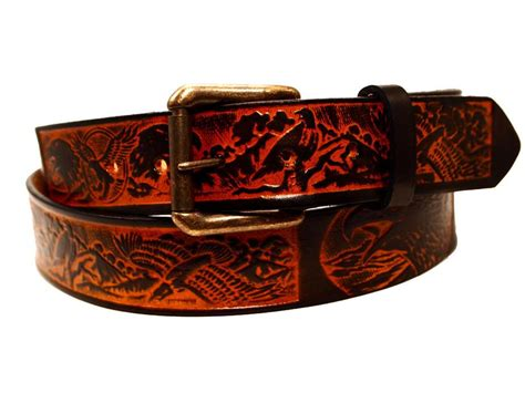 handmade custom leather belts for and crafted by