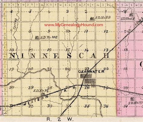 Sedgwick County Number Search Ninnescah Township Sedgwick County Kansas 1887 Map