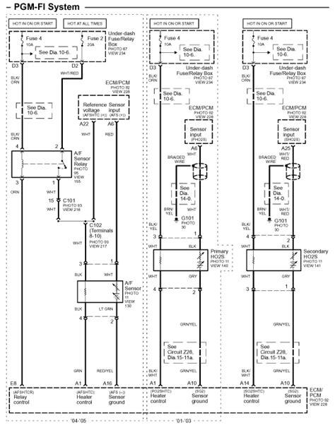 1997 Honda Civic O2 Sensor Wiring Diagram - Wiring Diagram
