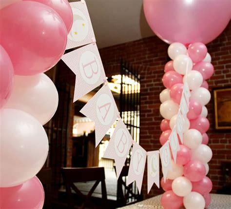 Balloon Tower For Baby Shower by Pink Baby Shower Pink Babyshower Baby Shower