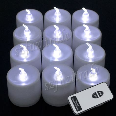led tea lights with remote 12x led candles white electronic tea lights flameless