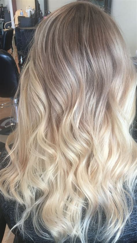 pictures of blondes who ombred their hair to have dark roots ashy blonde ombr 233 balayage hair i did pinterest