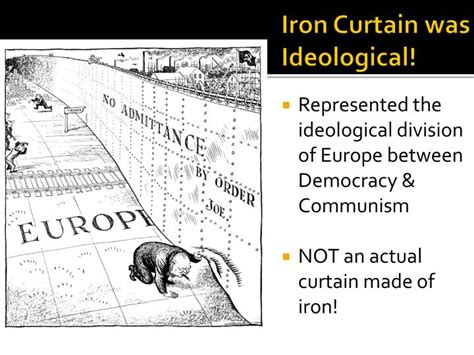 the iron curtain divided the world into ppt the cold war powerpoint presentation id 7065679