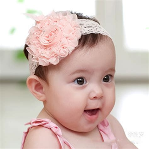 newborn baby headband bows lace flower children 1 pcs new princess infant baby elastic big flower lace