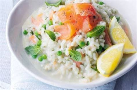 salmon and risotto smoked salmon and cream cheese risotto from essentials
