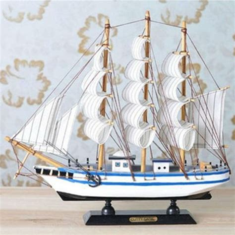 Ship Decor Home by Home Decor Handmade Wooden Model Pirate Sailing Ship