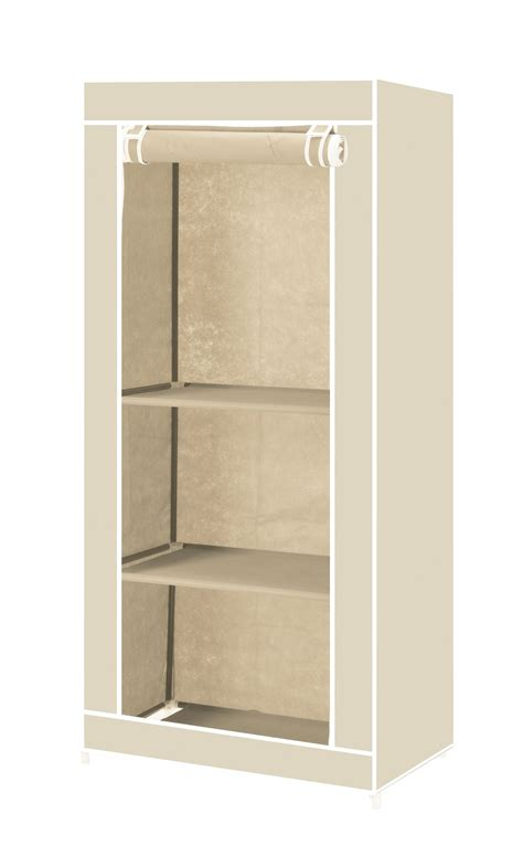 Canvas Single Wardrobe single canvas clothes storage organiser wardrobe cupboard