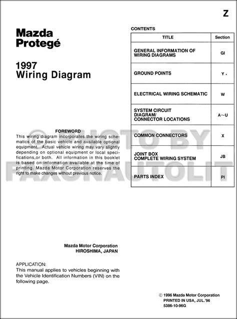 1996 mazda protege wiring diagram 33 wiring diagram