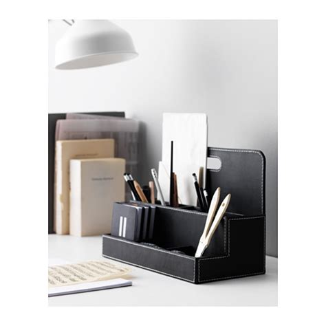 Ikea Desk Organization Rissla Desk Organiser Black Ikea