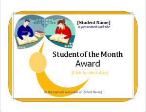 student of the month certificate template 15 customizable certificate templates for all fields