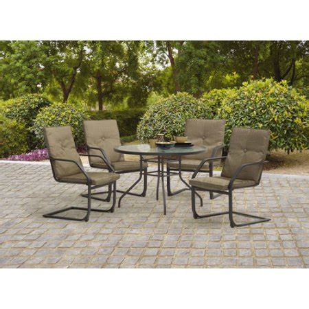 Walmart Patio Dining Set Mainstays Creek 5 Patio Dining Set Seats 4 Walmart
