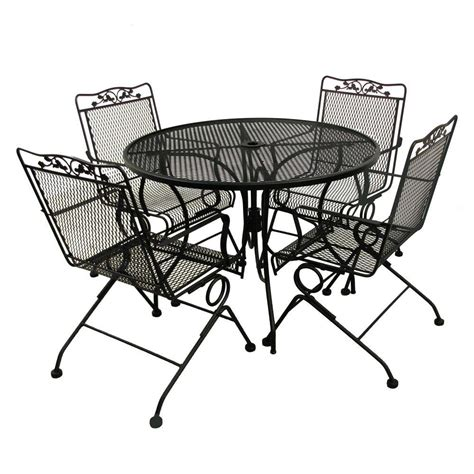 mainstays rockview 5 piece patio dining set black seats glenbrook black 5 patio dining set mainstays rockview 5