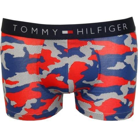 Hilfiger Icon Stripe Trunks hilfiger icon camo stripes boxer trunk blue underu
