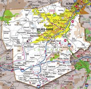 map of luzerne county pa our location luzerne county