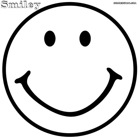printable smiley face coloring pages 23594