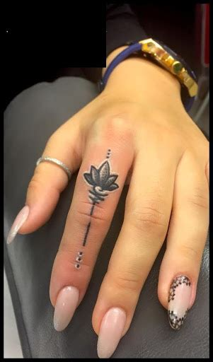 lotus flower finger tattoo 75 attractive finger tattoos for golfian