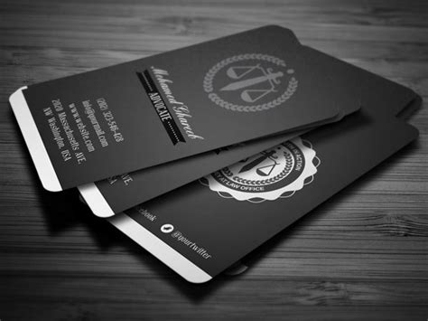 examples  lawyer business card  behance