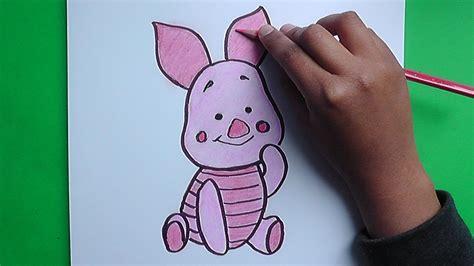 imagenes de winnie pooh bebe para dibujar dibujo de piglet winnie pooh drawing piglet youtube