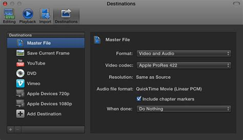 final cut pro how to export fcp x export master file larry jordan